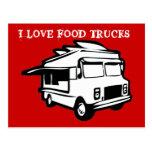 I love food trucks postcard