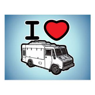 I Love Food Trucks! Postcard