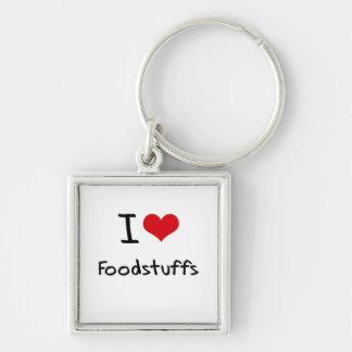 I Love Foodstuffs Keychains