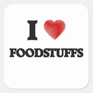 I love Foodstuffs Square Sticker