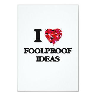 I Love Foolproof Ideas 3.5x5 Paper Invitation Card