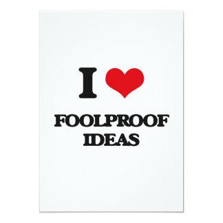 i LOVE fOOLPROOF iDEAS 5x7 Paper Invitation Card
