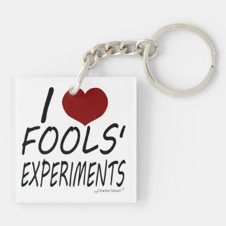 I Love Fools' Experiments Keychain