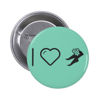 I Love Foot Flowers 2 Inch Round Button