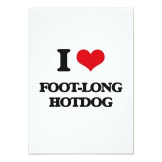 I love Foot-Long Hotdog 5x7 Paper Invitation Card