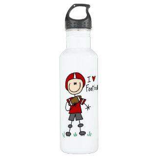 I Love Football 24oz Water Bottle