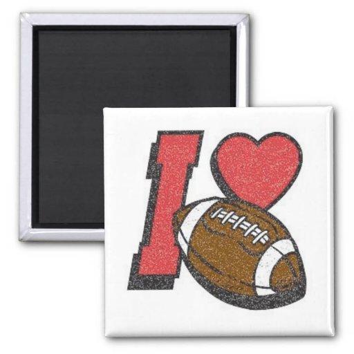 I Love Football 2 Refrigerator Magnets