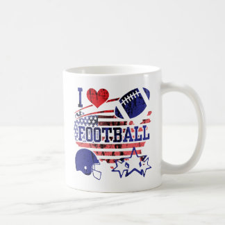 I Love Football (American Football) Coffee Mug