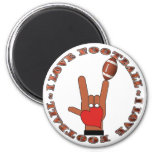 I Love Football ASL SIGN 2 Inch Round Magnet