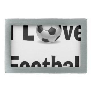I Love Football Belt Buckle