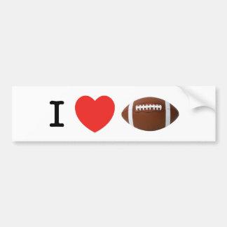 I Love Football Car Bumper Sticker