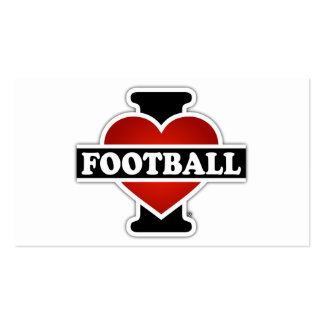 I Love Football Double-Sided Standard Business Cards (Pack Of 100)