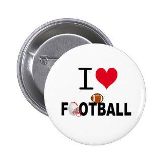 I LOVE FOOTBALL PIN