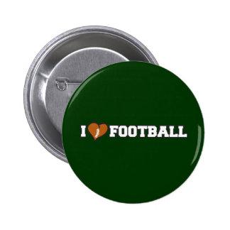 I Love Football Button