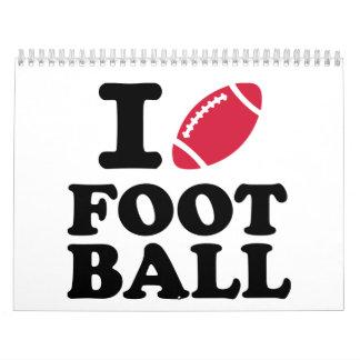 I love Football Calendar
