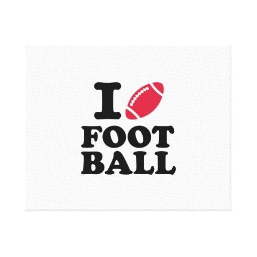 I love Football Canvas Print