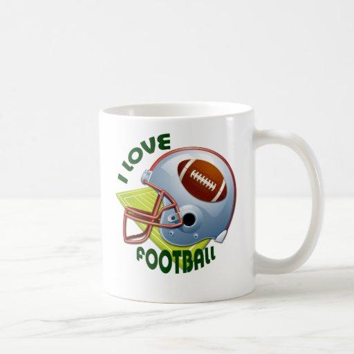 I LOVE FOOTBALL CLASSIC WHITE COFFEE MUG