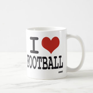 I LOVE FOOTBALL COFFEE MUG