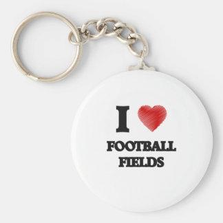 I love Football Fields Basic Round Button Keychain