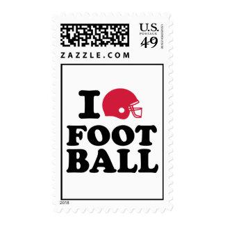 I love Football helmet Postage