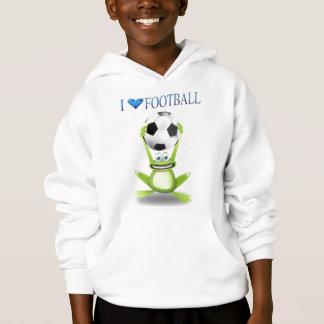 i love football hoodie