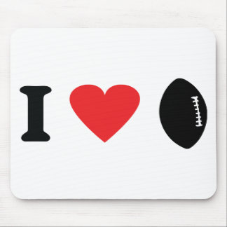 I love football icon mouse pad
