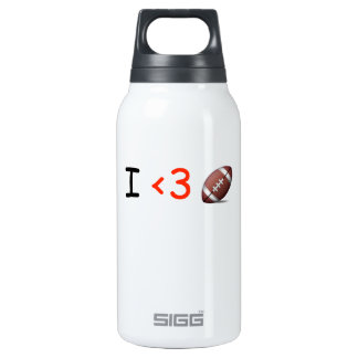 I love football insulated water bottle