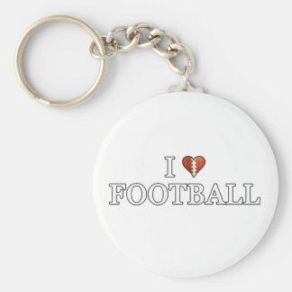 I Love Football Keychain