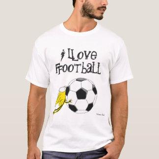 I love Football! Kitten chewy Football T-Shirt