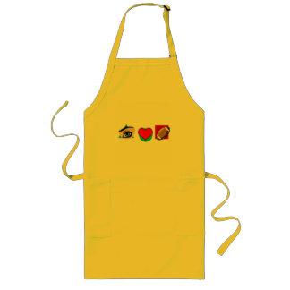 I love football long apron