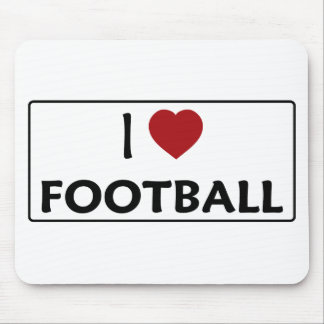 I Love Football Mouse Pad