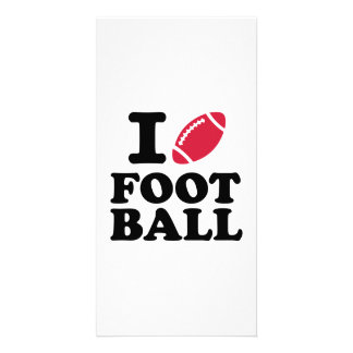 I love Football Personalized Photo Card
