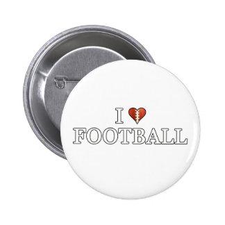 I Love Football Pinback Button