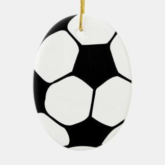 I love Football.png Ceramic Ornament