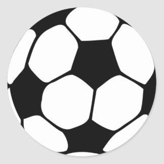 I love Football.png Classic Round Sticker