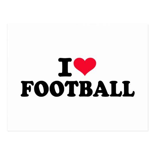 I love Football Postcard