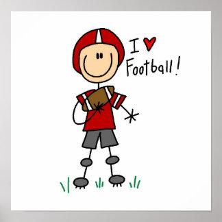 I Love Football Poster