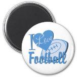 I Love Football Refrigerator Magnets