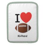 I Love Football Sleeves For iPads