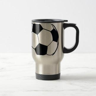 I LOVE FOOTBALL (SOCCER) 15 OZ STAINLESS STEEL TRAVEL MUG