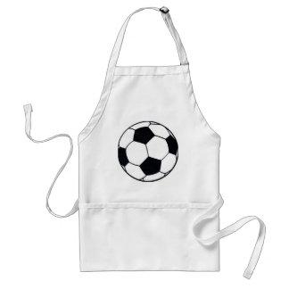 I LOVE FOOTBALL (SOCCER) ADULT APRON