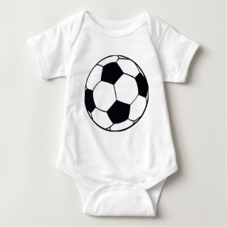 I LOVE FOOTBALL (SOCCER) BABY BODYSUIT