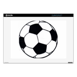 """I LOVE FOOTBALL (SOCCER) DECALS FOR 15"""" LAPTOPS"""