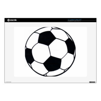 "I LOVE FOOTBALL (SOCCER) DECALS FOR 15"" LAPTOPS"