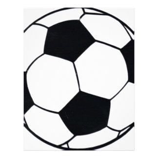 I LOVE FOOTBALL (SOCCER) LETTERHEAD