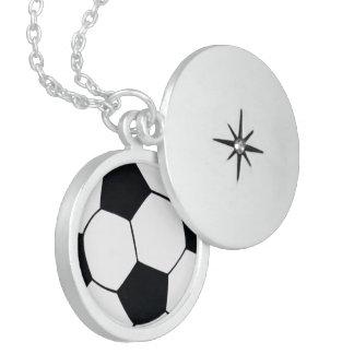 I LOVE FOOTBALL (SOCCER) LOCKET NECKLACE