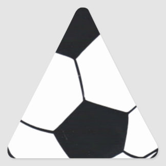 I LOVE FOOTBALL (SOCCER) TRIANGLE STICKER