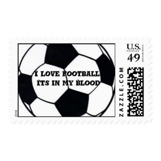 I Love Football Stamps. Its in my blood