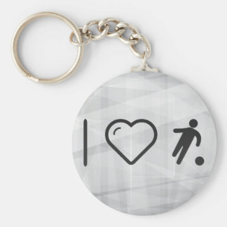 I Love Football Strikers Basic Round Button Keychain