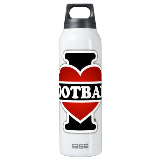 I Love Football Thermos Water Bottle